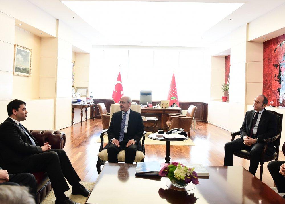 Kılıçdaroğlu, DP Genel Başkanı Gültekin Uysal'la görüştü
