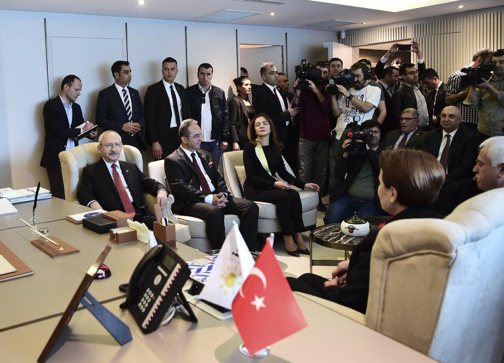 Kılıçdaroğu, İYİ Parti Genel Merkezi'ni ziyaret etti