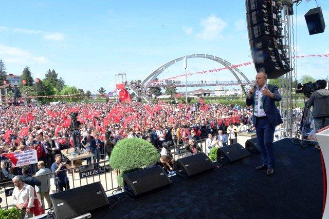 CHP Cumhurbaşkanı Adayı Muharrem İnce Rize mitinginde konuştu