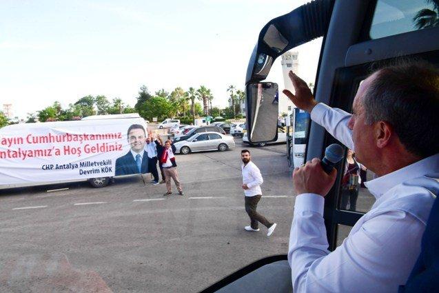 Muharrem İnce, Antalya'da Halk Arenası'na katıldı