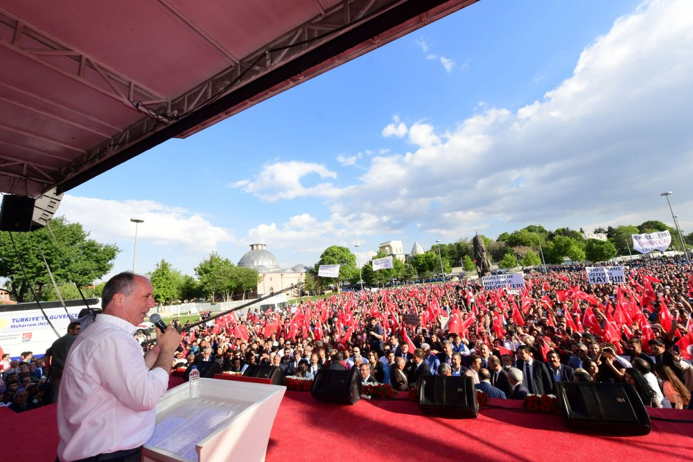 Cumhurbaşkanı adayı Muharrem İnce Konya mitinginde konuştu