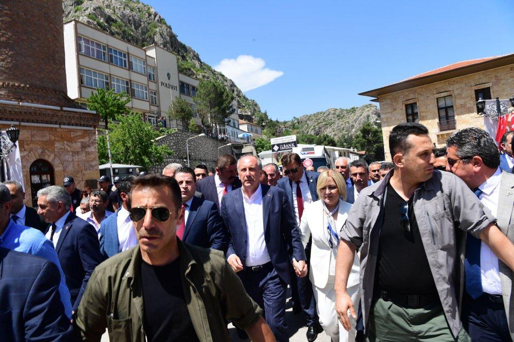 Cumhurbaşkanı adayı Muharrem İnce, Amasya mitinginde halka hitap etti