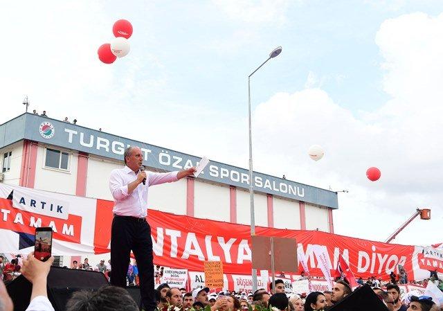 Muharrem İnce Antalya mitinginde konuştu