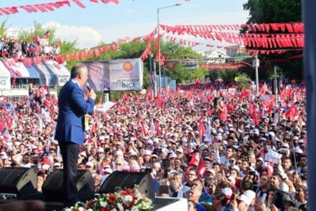 Muharrem İnce Ankara Tandoğan mitinginde halka hitap etti