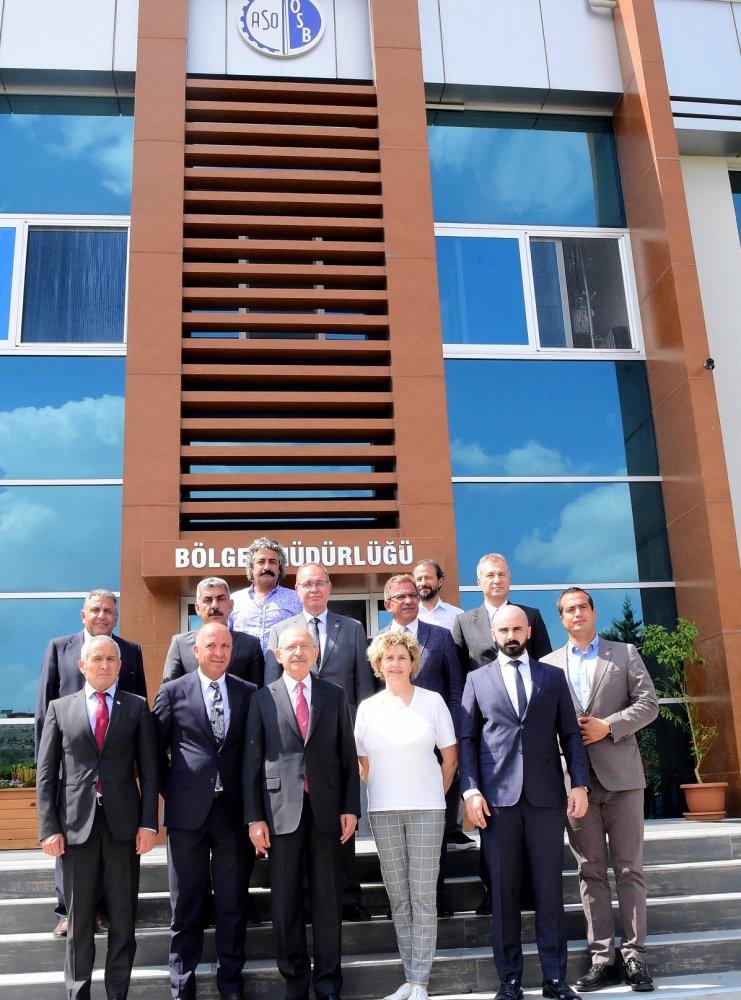 Kılıçdaroğlu'ndan, AOSB ve ASO II. OSB yöneticilerine ziyaret
