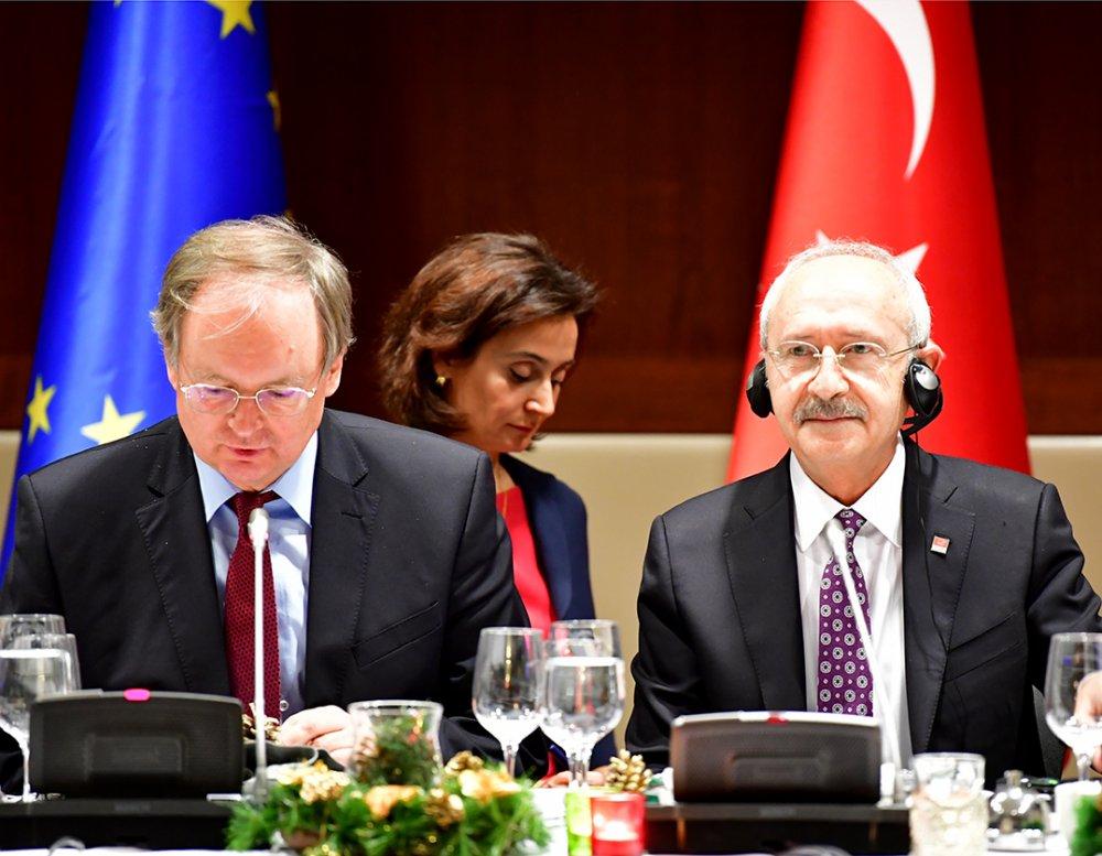 Kılıçdaroğlu, AB büyükelçileri ile yemekte buluştu