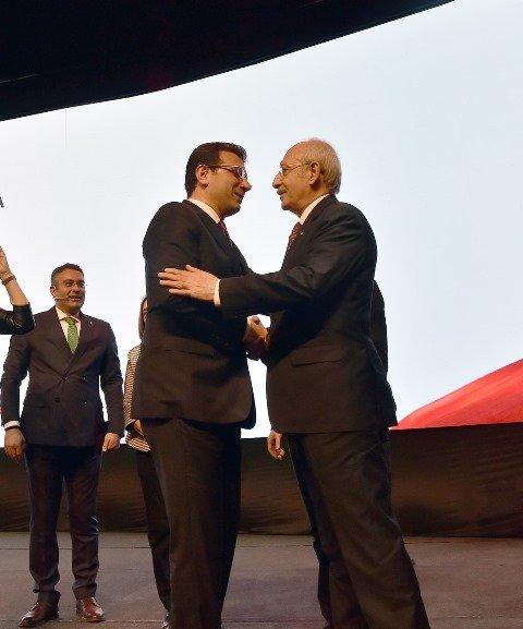 Kılıçdaroğlu, İBB adayı Ekrem İmamoğlu'nun tanıtım toplantısına katıldı