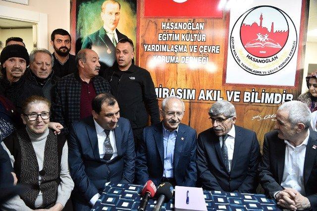 Kılıçdaroğlu Hasanoğlan Çevre Koruma Derneği'ni ziyaret etti
