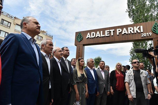 Kılıçdaroğlu,Çankaya Belediyesi tarafından yapılan Adalet Parkı açılış töreninde konuştu