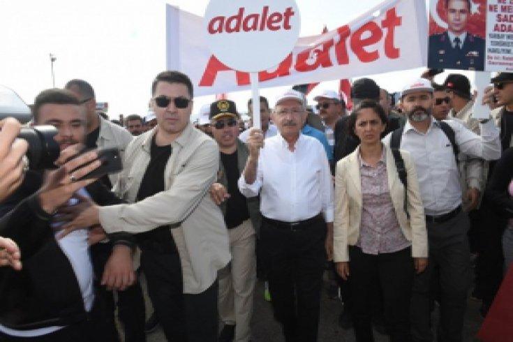 Kılıçdaroğlu'nun Adalet Yürüyüşü'nün 8. günü