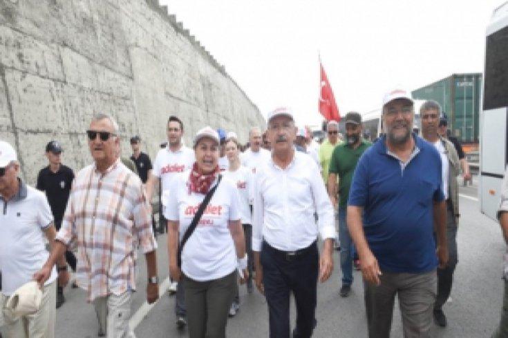 Adalet Yürüyüşü'nün 21. günü