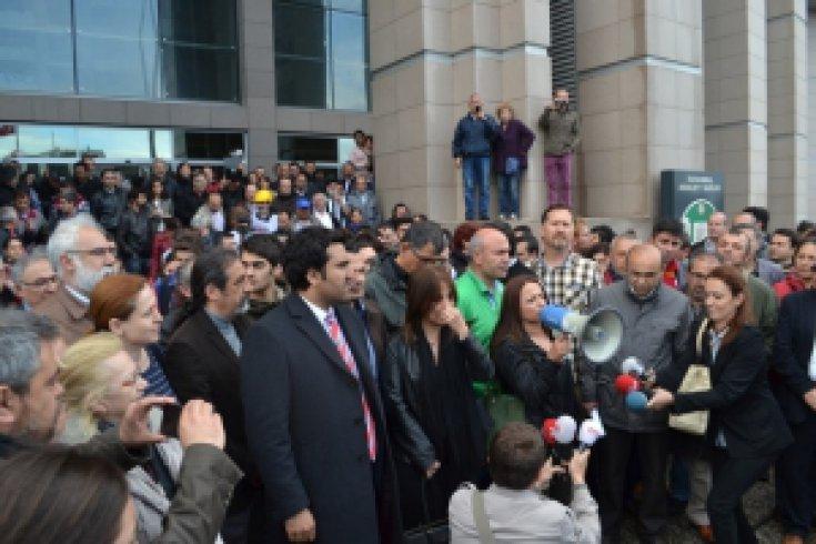 Çağlayan Adliyesi, 1 Mayıs Gözaltıları Hukuksuzdur Basın Açıklaması