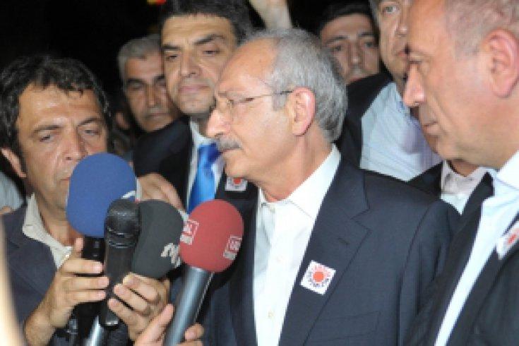 CHP Genel Başkanı Kemal Kılıçdaroğlu Gezi Parkı'ndaydı
