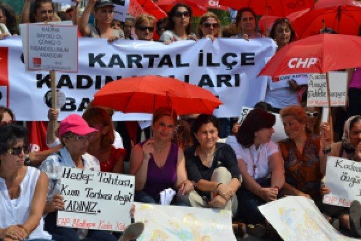 CHP Kadına Karşı Şiddet'e Hayır dedi