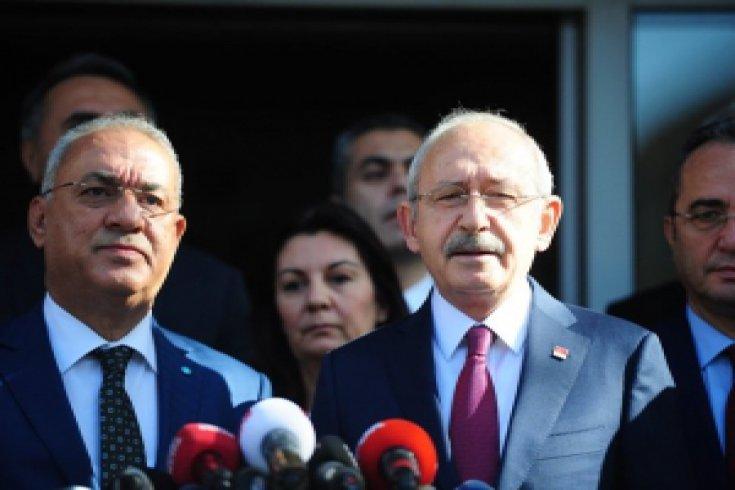 CHP lideri  Kılıçdaroğlu, DSP Genel Merkezi'ni ziyaret etti