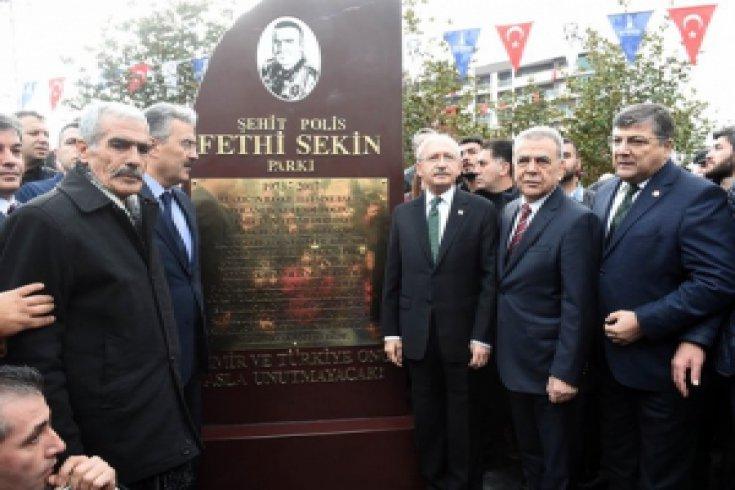 CHP Lideri Kemal Kılıçdaroğlu İzmir Şehitleri Park Açılışı