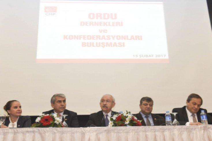 CHP Lideri Kılıçdaroğlu, Ordu Dernekleri ve Konfederasyonları temsilcileri ile buluştu