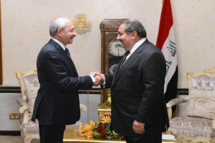 Cumhuriyet Halk Partisi Genel Başkanı kemal Kılıçdaroğlu, Irak Dışişleri Bakanı Hoşyar Zebari ile görüştü.