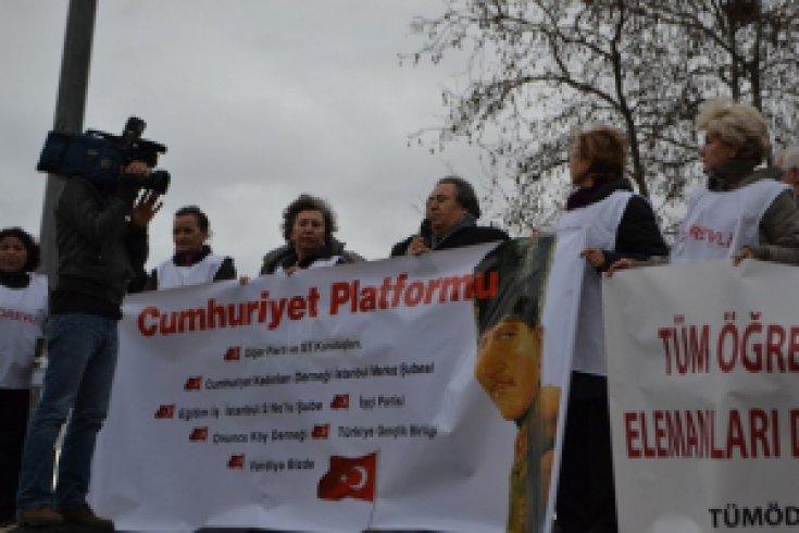 Cumhuriyet Platformu 'Hukuksuzluğa Hayır'