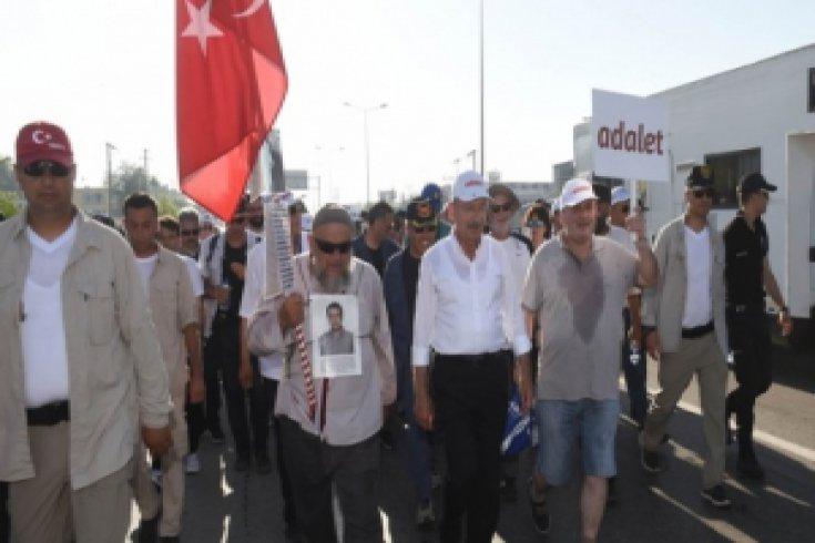Foroğraflarla Adalet Yürüyüşü'nün 18. günü