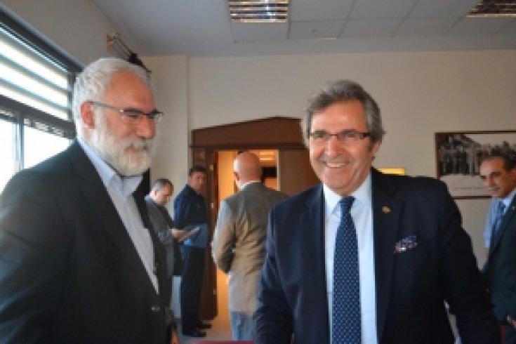 İmambakır Üküş, Bandırma Belediye Başkanı Dursun Mirza ziyareti