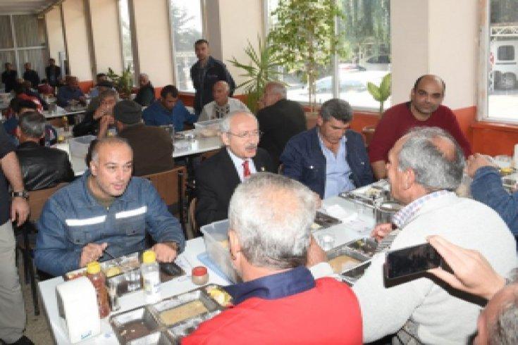 Kılıçdaroğlu, Tokat'ın Turhal İlçesindeki Şeker Fabrikasını ziyaret etti