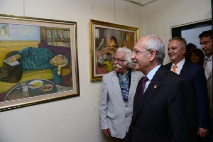 Kılıçdaroğlu,Ressam Yaşar Çallı'yı ziyaret etti