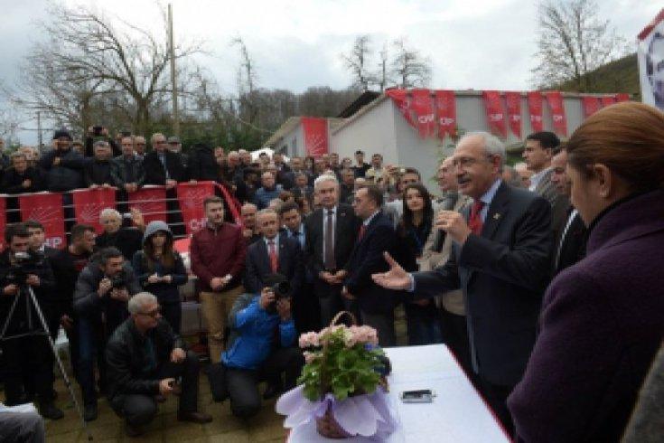 Kemal Kılıçdaroğlu,  Düzce'de ziyaretlerde bulundu