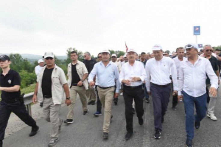 Kılıçdaroğlu, Adalet Yürüyüşü'nün 19. gününde