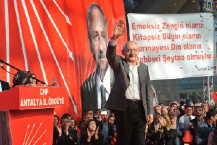 Kılıçdaroğlu Antalya'da aday tanıtım toplantısı