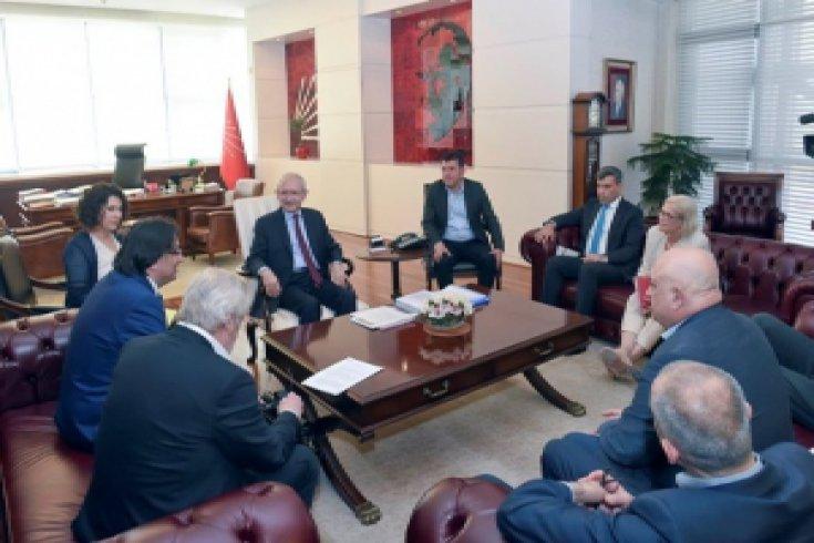 Kılıçdaroğlu, Avrupa Sendikalar Konfederasyonu ile görüştü