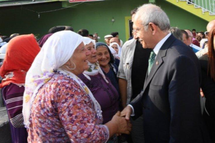 Kılıçdaroğlu, Çorum'un Laçin ilçesini ve köylerini ziyaret etti