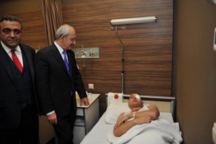 Kılıçdaroğlu hastaneyi ziyaret etti