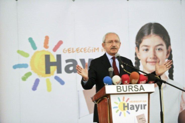 Kılıçdaroğlu, İnegöl'de mahalle muhtarları ve STK'larla buluştu