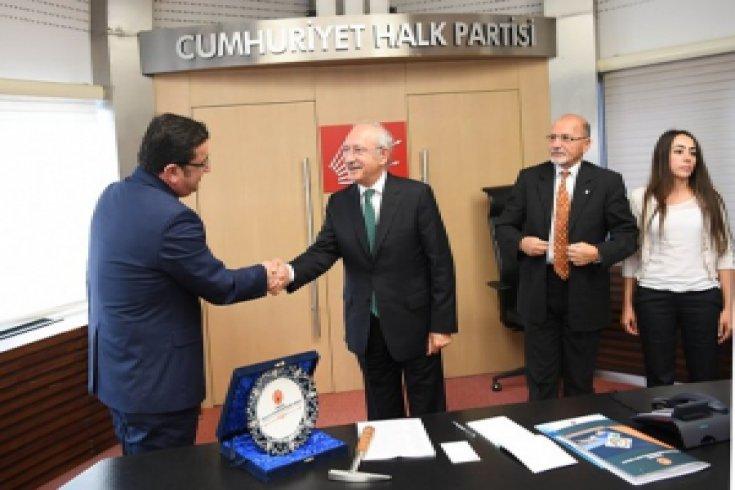 Kılıçdaroğlu Jeoloji Mühendisleri Odası'nı kabul etti