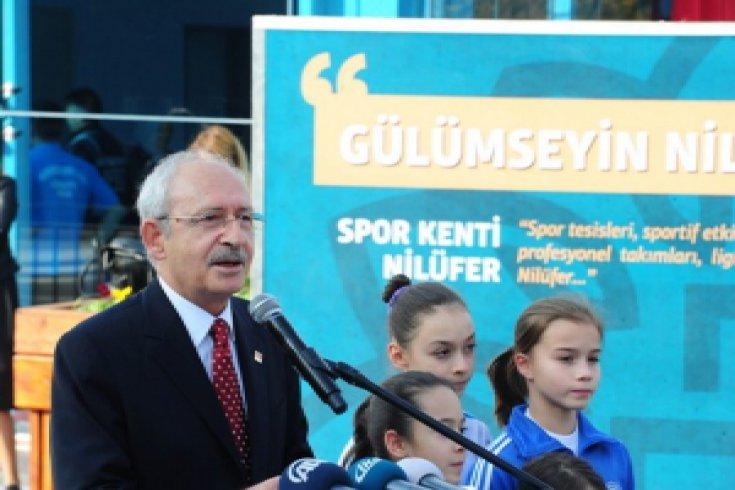 Kılıçdaroğlu, Nilüfer'de Beşevler Cimnastik Salonu'nun açılışına katıldı