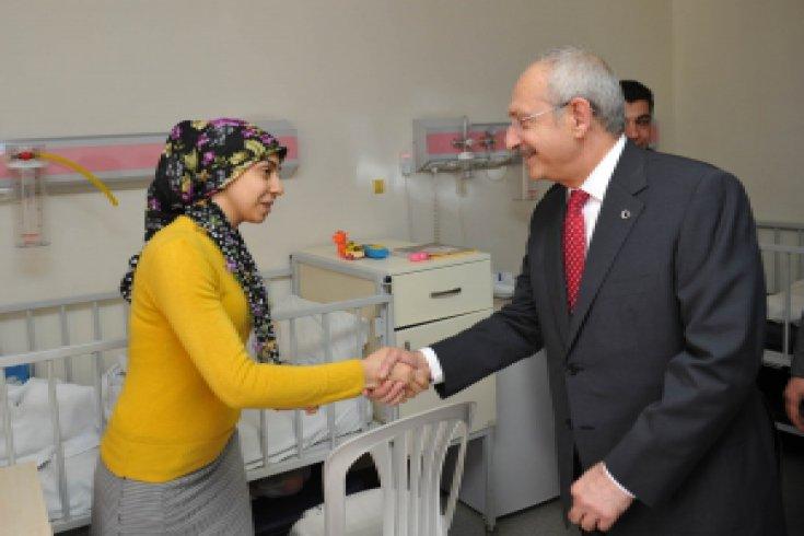 Kılıçdaroğlu Şanlıurfa'da çocuk hastanesini ziyaret etti
