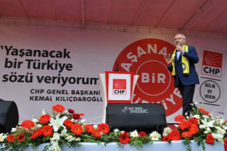 Kılıçdaroğlu Tekirdağ Mitinginde konuştu