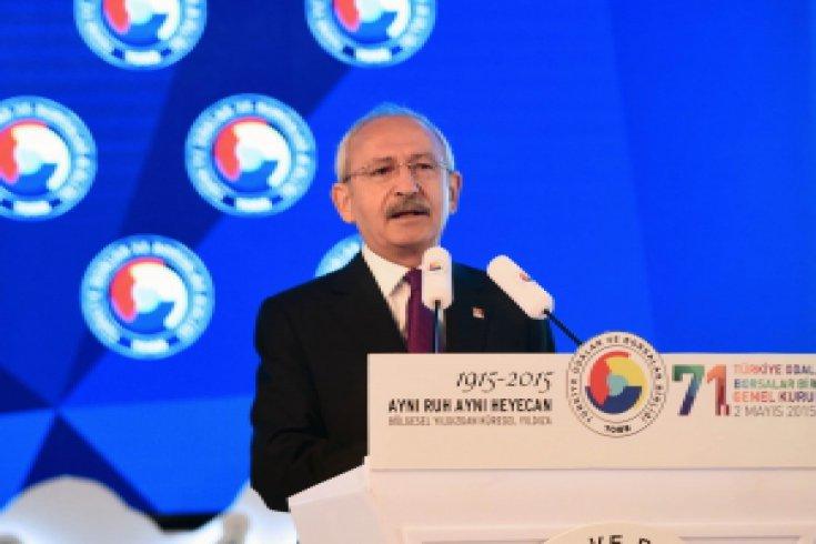 Kılıçdaroğlu TOBB'un 71. Genel Kurulunda Konuştu