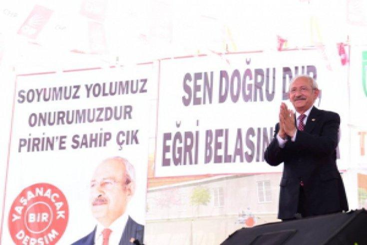 Kılıçdaroğlu, Tunceli'de