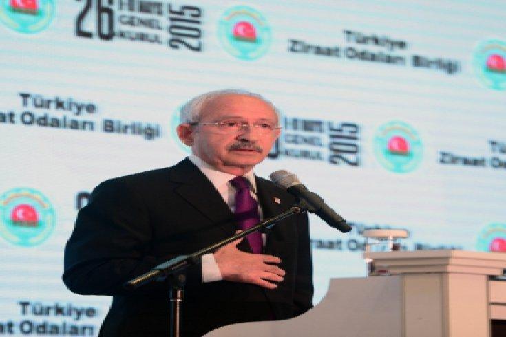 Kılıçdaroğlu, Türkiye Ziraat Odaları Birliği Genel Kurulunda konuştu