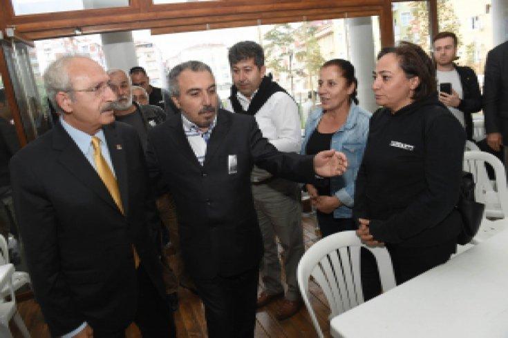 Kılıçdaroğlu'dan, Şehit er Kartepe, Üstteğmen Öncel ailelerine taziye