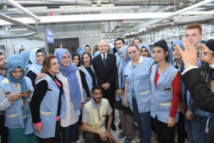 Kılıçdaroğlu'ndan, fabrika işçilerine ziyaret
