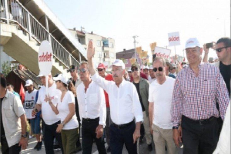 Kılıçdaroğlu'nun Adalet Yürüyüşü'nün 15. günü