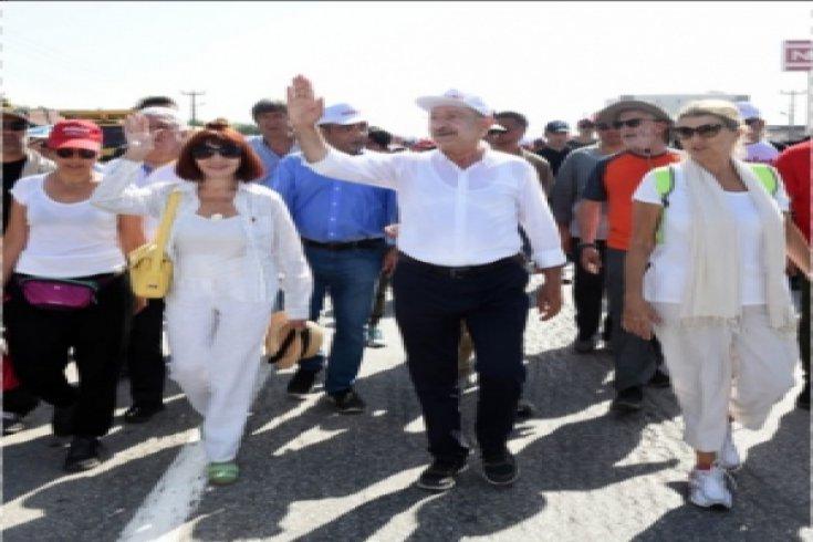 Kılıçdaroğlu'nun Adalet Yürüyüşü'nün 16. günü