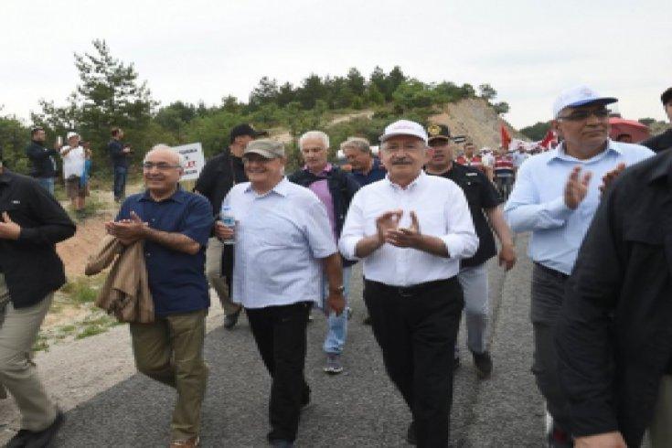 Kılıçdaroğlu'nun, Adalet Yürüyüşü'nün 4. günü