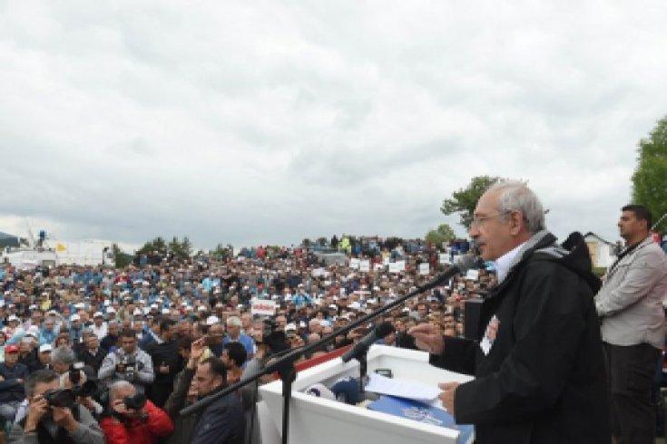 Kılılçdaroğlu, 'Adalet Yürüyüşü'nün 6. gününde  CHP grup toplantısında konuştu