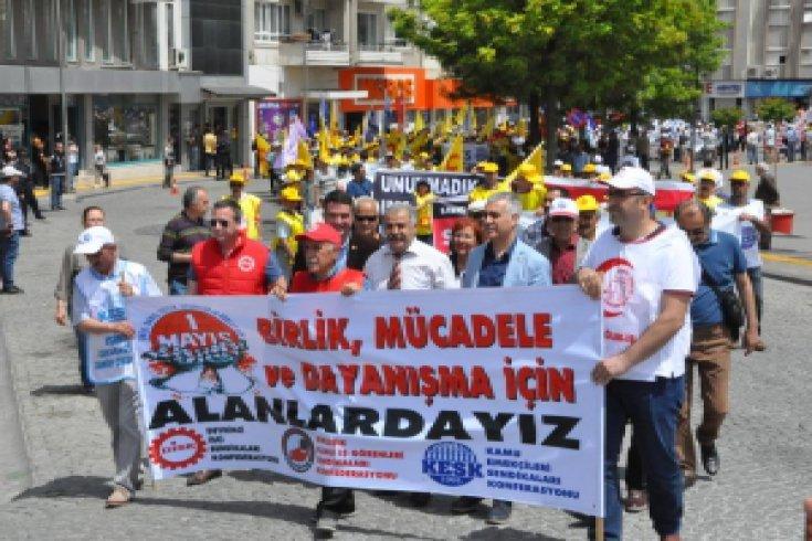 1 Mayıs, Aydın'da yıllar sonra ilk kez ortak kutlandı
