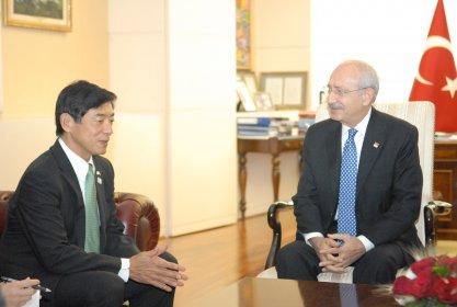 Kılıçdaroğlu, Japonya'nın Ankara Büyükelçisi ile görüştü