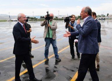 Kılıçdaroğlu ve İnce Ankara Esenboğa Havalimanı'nda karşılaştı